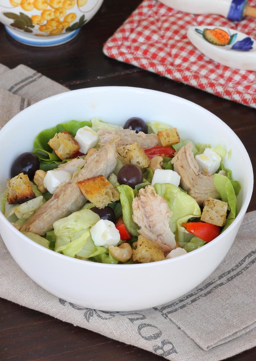 SGOMBRO all'insalata | insalata di sgombro | ricetta fredda leggera