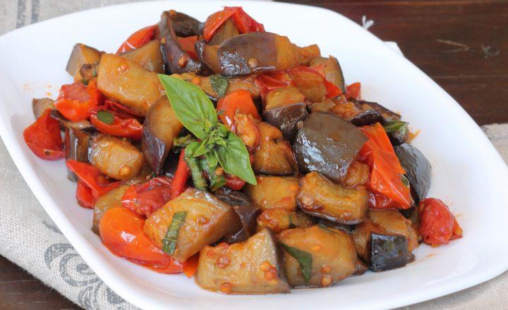 MELANZANE A FUNGHETTO ricetta napoletana melanzane a fungitiello