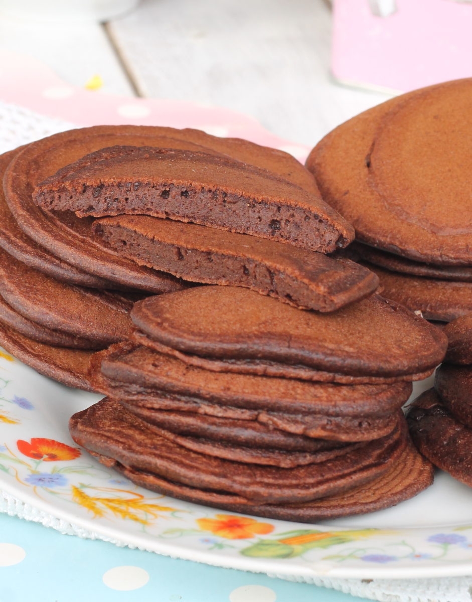 PANCAKE CACAO ricetta pancake al cioccolato con cacao amaro