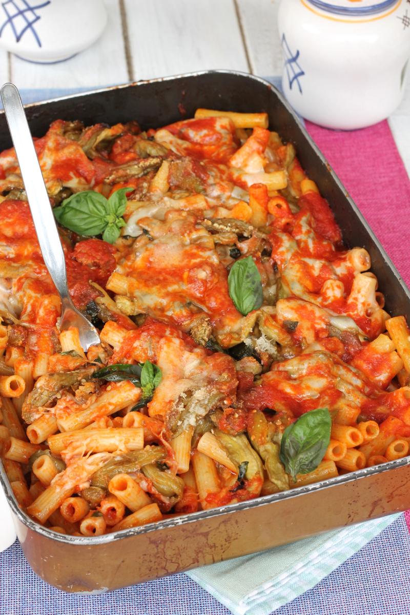 PASTA con MELANZANE al forno  e basilico fresco | ricetta primo