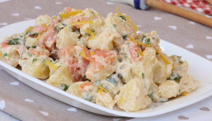 PATATE SALMONATE insalata di patate e salmone   ricetta fredda estiva