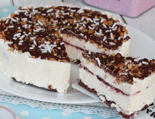 CROCCANTE AMARENA torta semifreddo