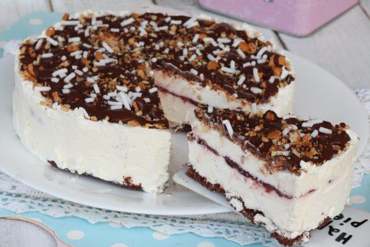 CROCCANTE AMARENA torta semifreddo con gelato amarene cioccolato