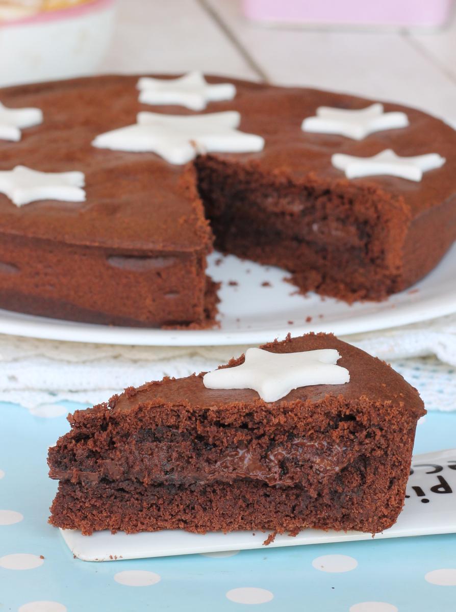 torta con CREMA PAN DI STELLE  e pasta frolla cacao e nocciole