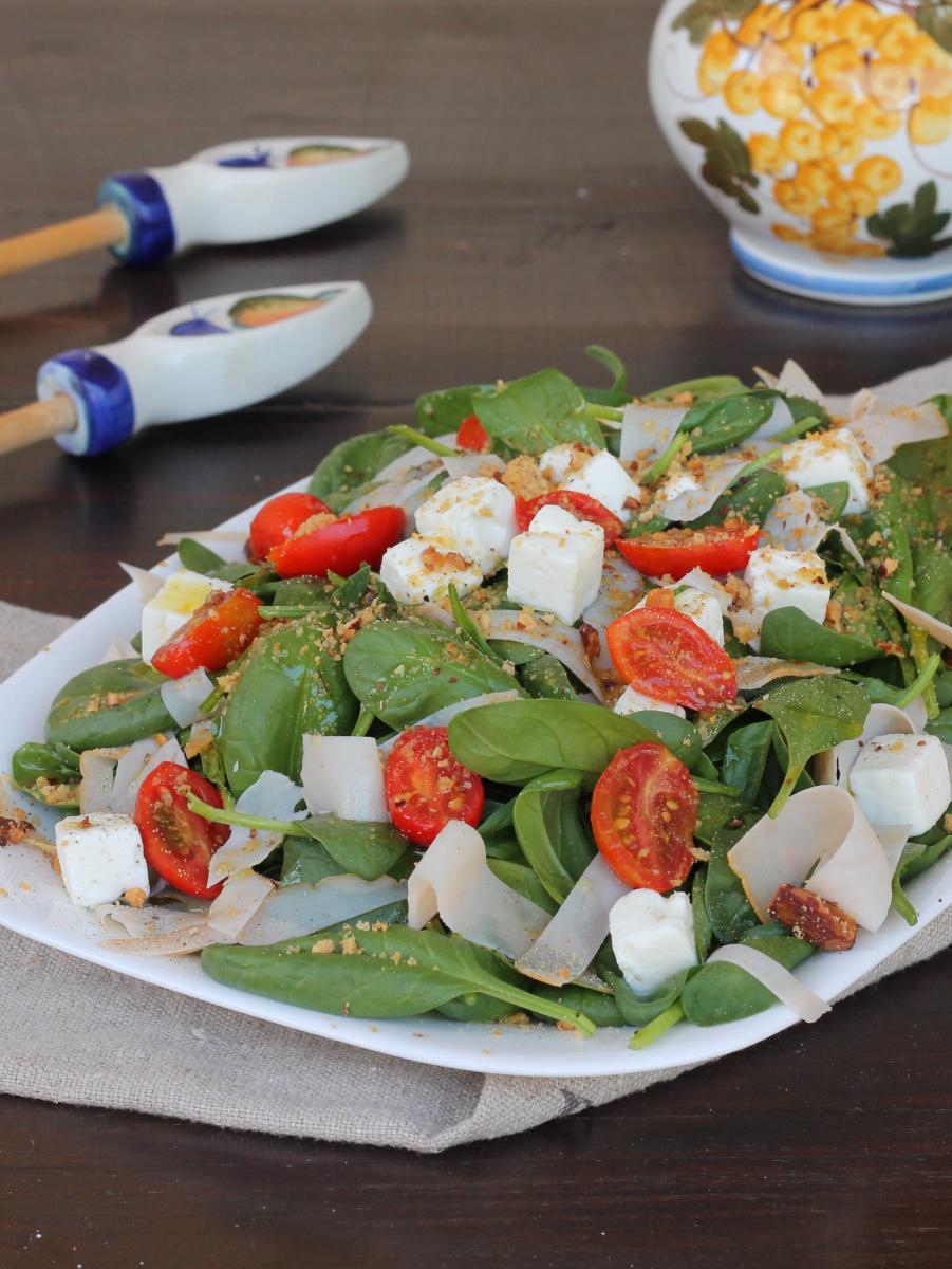 INSALATA di TACCHINO ARROSTO insalata di tacchino veloce con spinaci