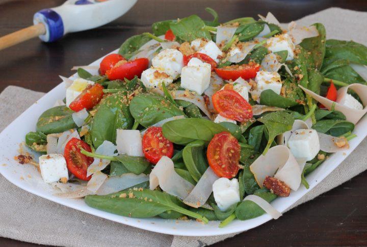 INSALATA di FESA di TACCHINO insalata di tacchino veloce con spinaci