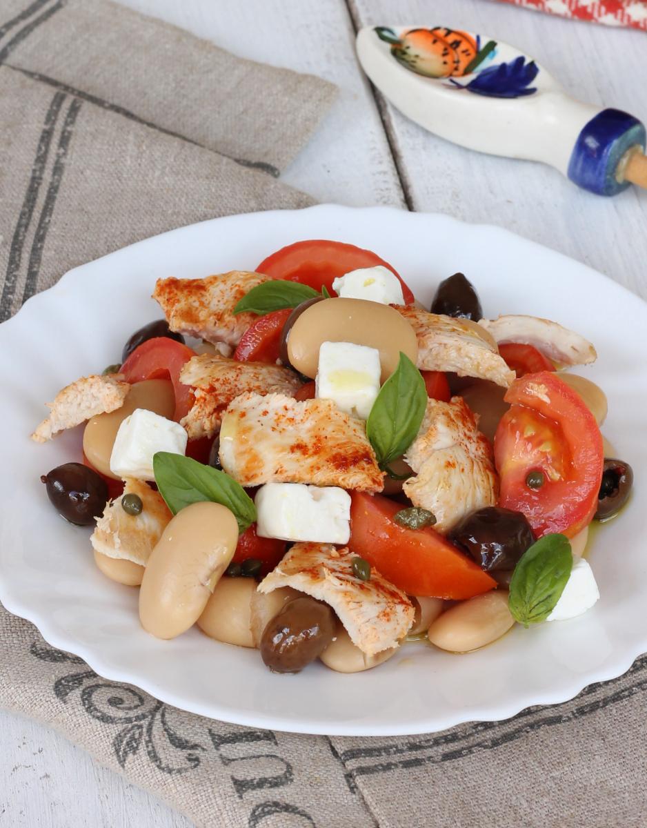 POLLO e FAGIOLI | petto di pollo con fagioli all'insalata
