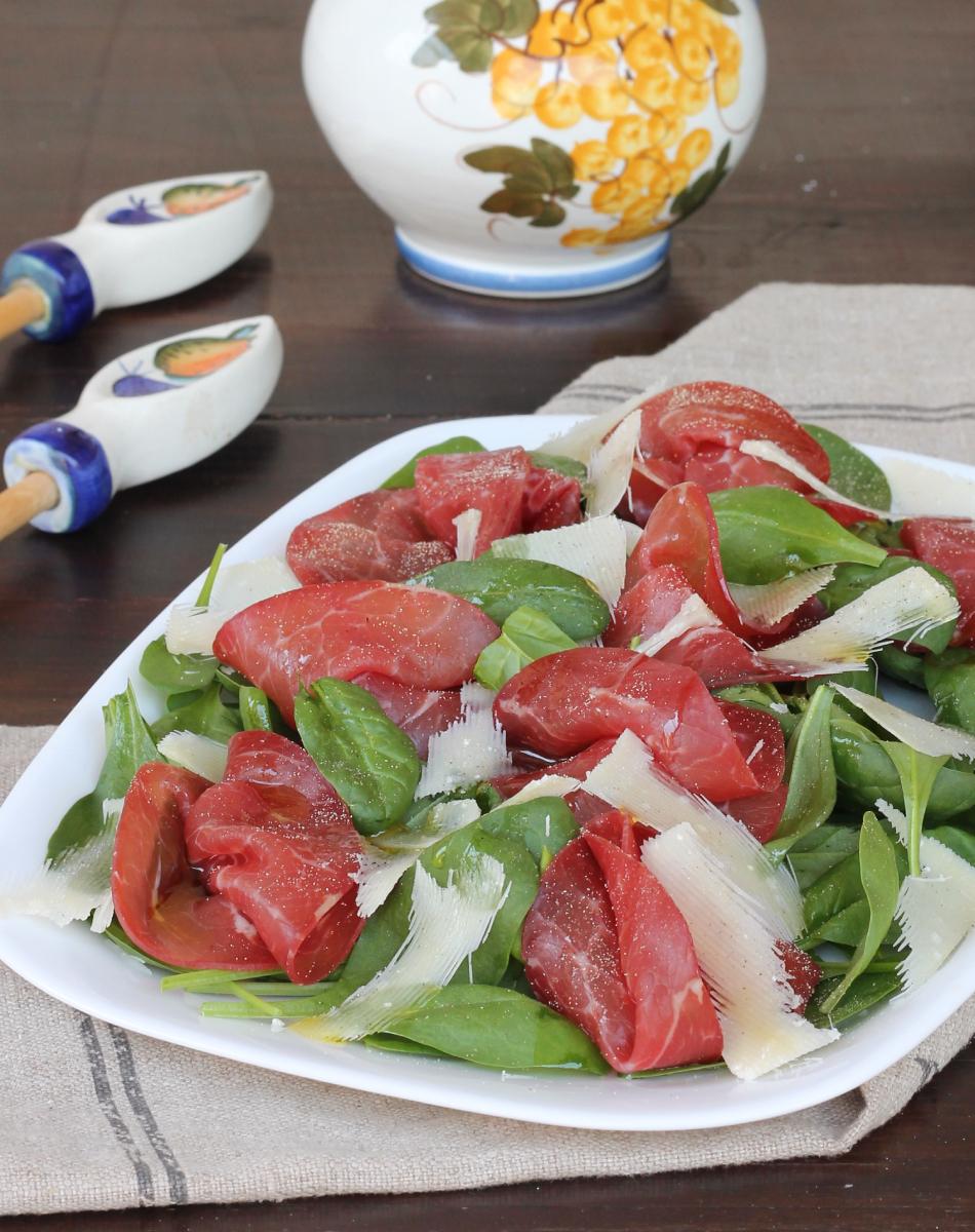 SPINACINO insalata | insalata con bresaola e spinacino fresco crudo