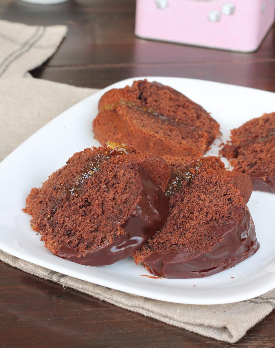 TORTA FICHI e CIOCCOLATO ciambellone cioccolato e marmellata di fichi