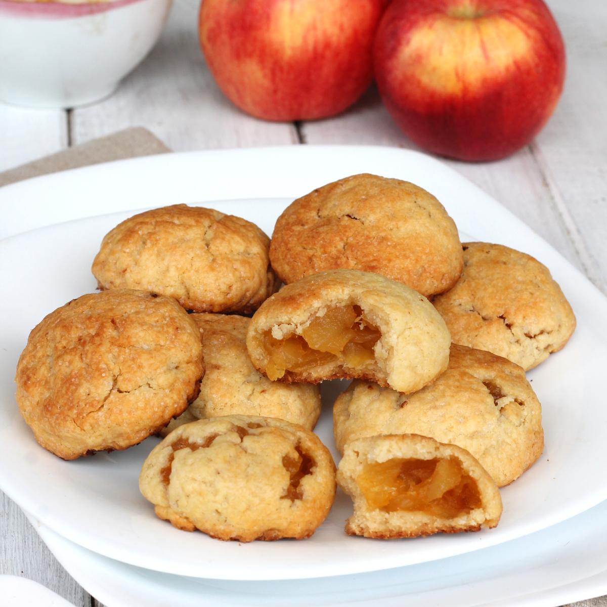 CUOR DI MELA mulino bianco fatti in casa  ricetta biscotti ripieni di mele | biscotti di mele
