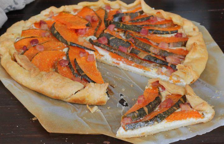 TORTA SALATA CON ZUCCA |torta salata zucca e ricotta |ricetta con brisè