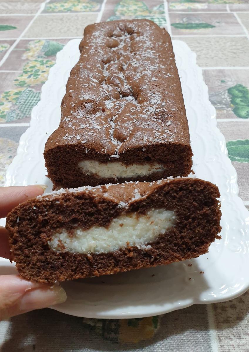 PLUMCAKE CACAO E COCCO | bounty plumcake con crema al cocco