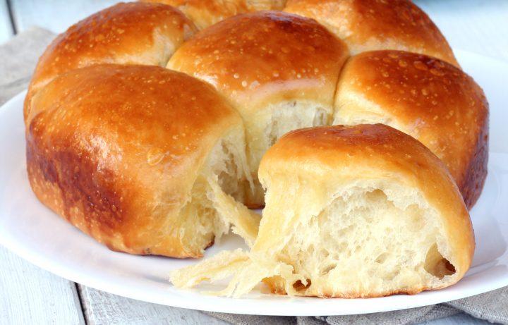 PAN BRIOCHE CON YOGURT GRECO danubio di pan brioche dolce