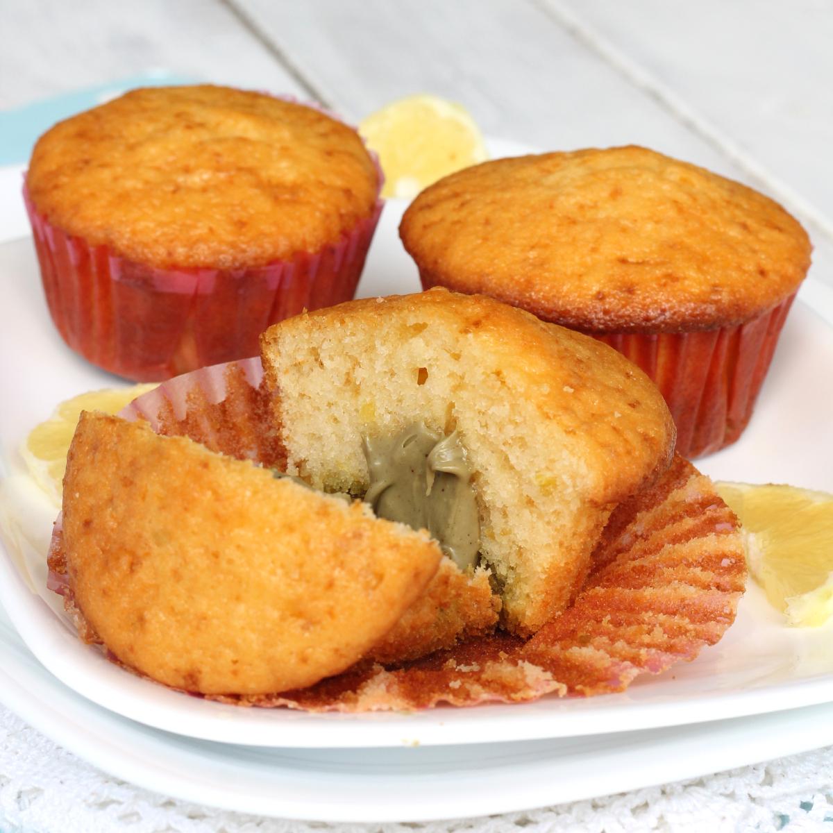 MUFFIN CON CREMA DI PISTACCHIO ricetta muffin al pistacchio e yogurt