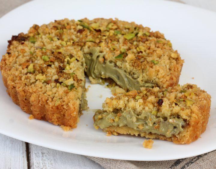 SBRICIOLATA AL PISTACCHIO ricetta crostata con pistacchi   torta veloce