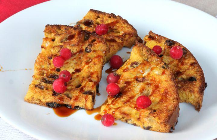 FRENCH TOAST AL FORNO con panettone   ricetta french toast di Natale