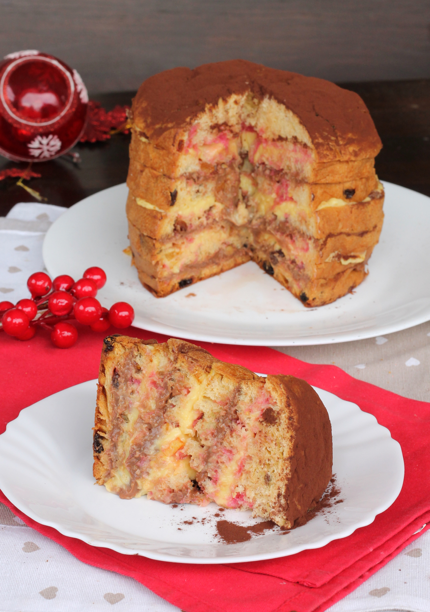 PANETTONE ZUPPA INGLESE di Natale | zuppa inglese con panettone