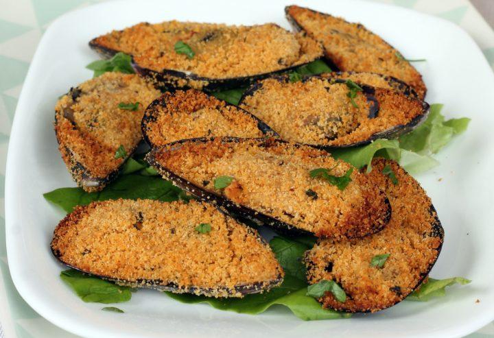 RICETTA COZZE GRATINATE   cozze gratinate al forno   ricetta antipasto