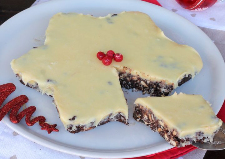 TORTA STELLA | torta NATALIZIA senza cottura | dolce per Natale freddo