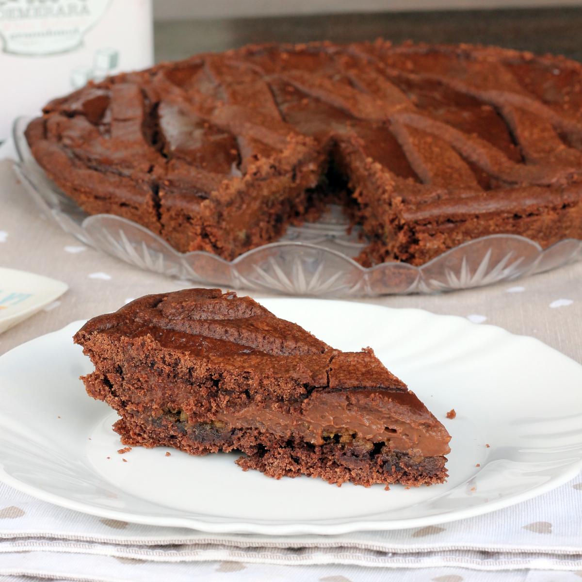 CROSTATA CIOCCOLATO E AMARETTI crostata con crema al cioccolato