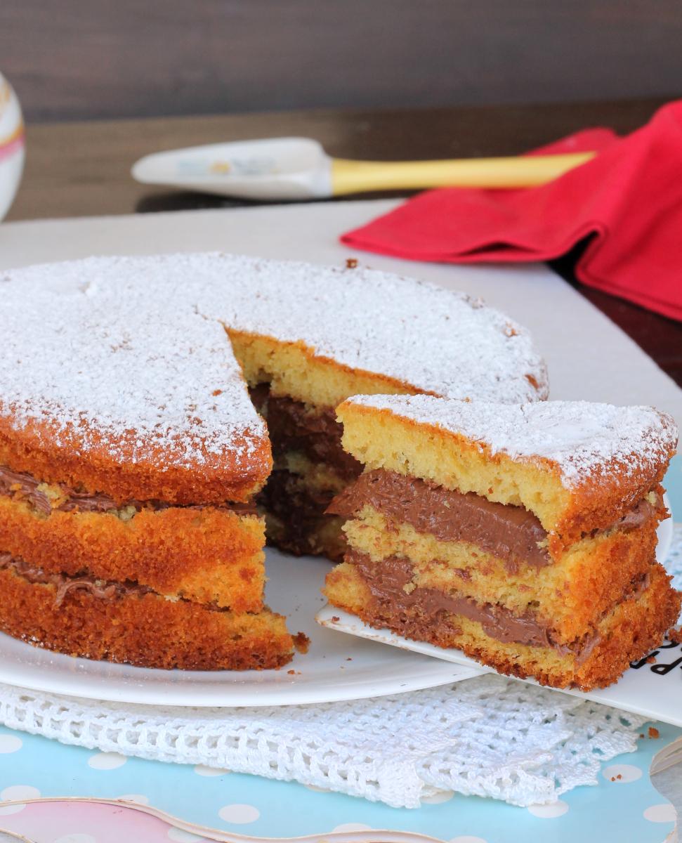 TORTA YOGURT E NUTELLA torta soffice allo yogurt farcita con nutella