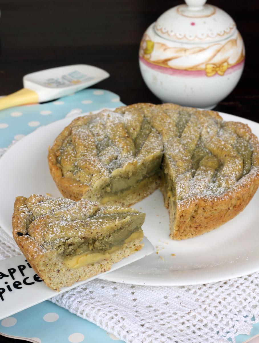 CROSTATA PISTACCHIO e CREMA pasticcera | ricetta crostata morbida