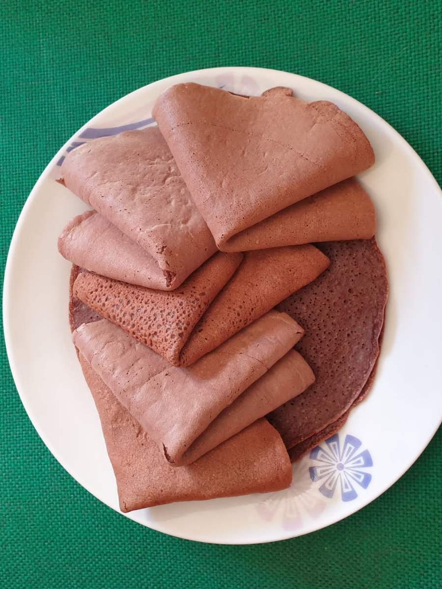 CREPES PROTEICHE AL CACAO ricetta crepes fit light   crepes di albumi