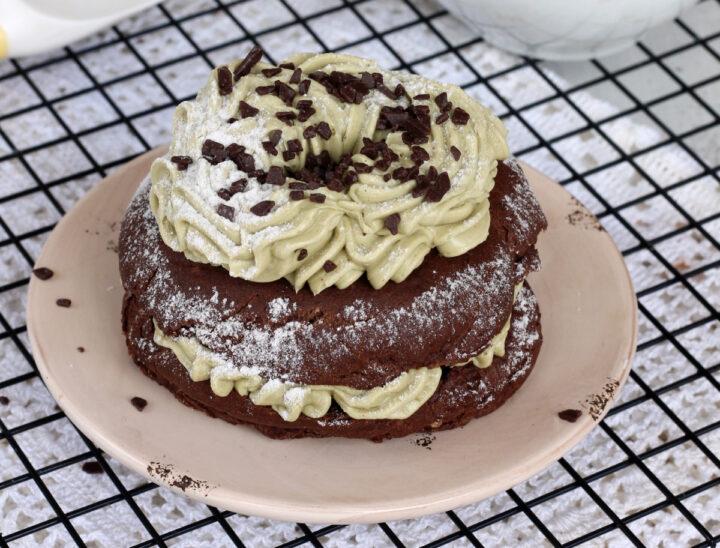 ZEPPOLE al PISTACCHIO e cioccolato bignè di San Giuseppe al forno