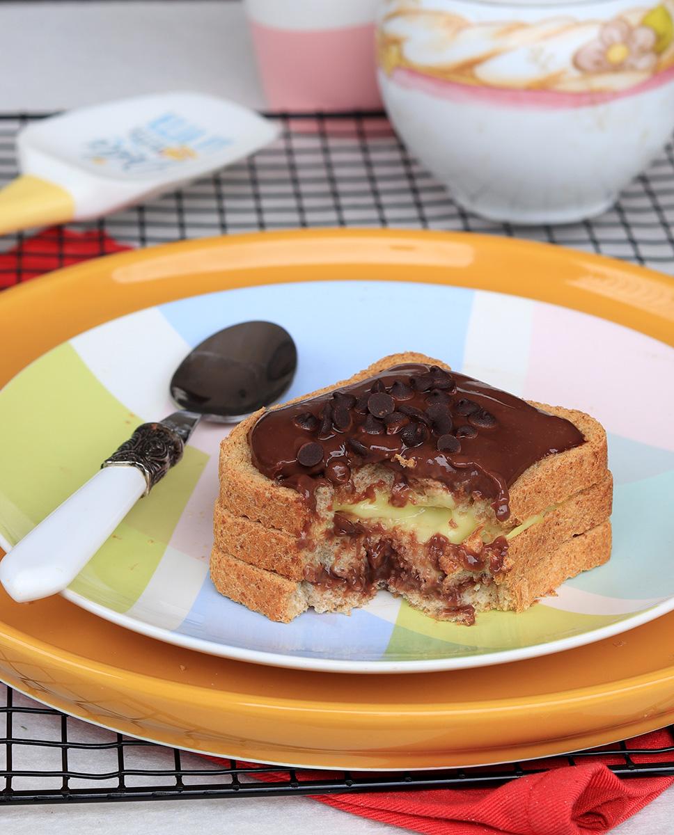 DOLCE CON FETTE BISCOTTATE cioccolato e vaniglia | ricetta fit light