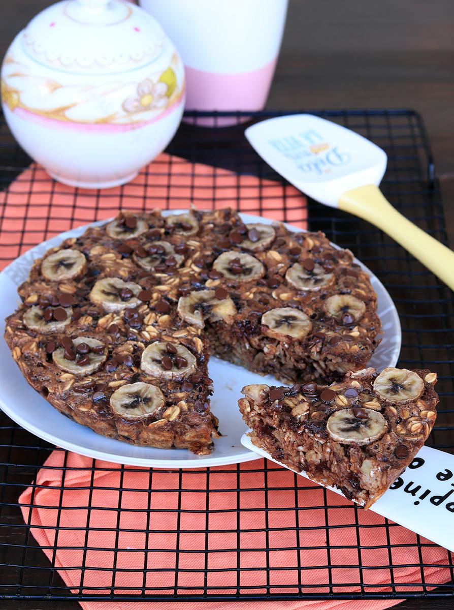 PORRIDGE CAKE ricetta torta porridge al cioccolato | porridge al forno