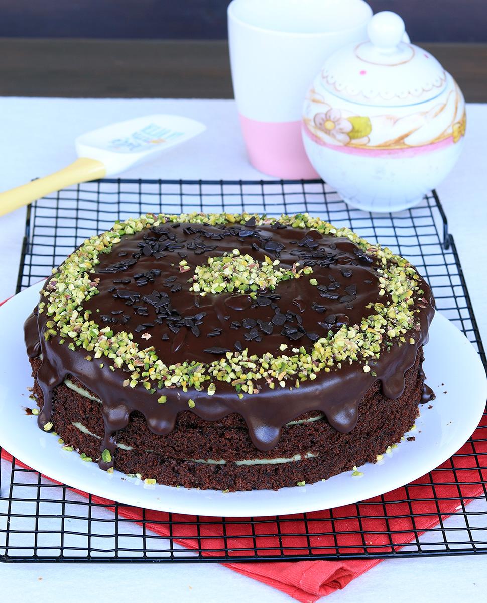 TORTA PISTACCHIO E CIOCCOLATO torta cioccolato e pistacchio facile