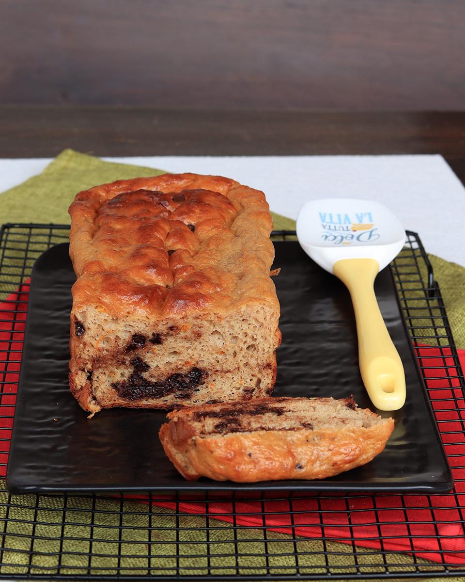 TORTA PROTEICA torta arancia e cioccolato light | plumcake light soffice
