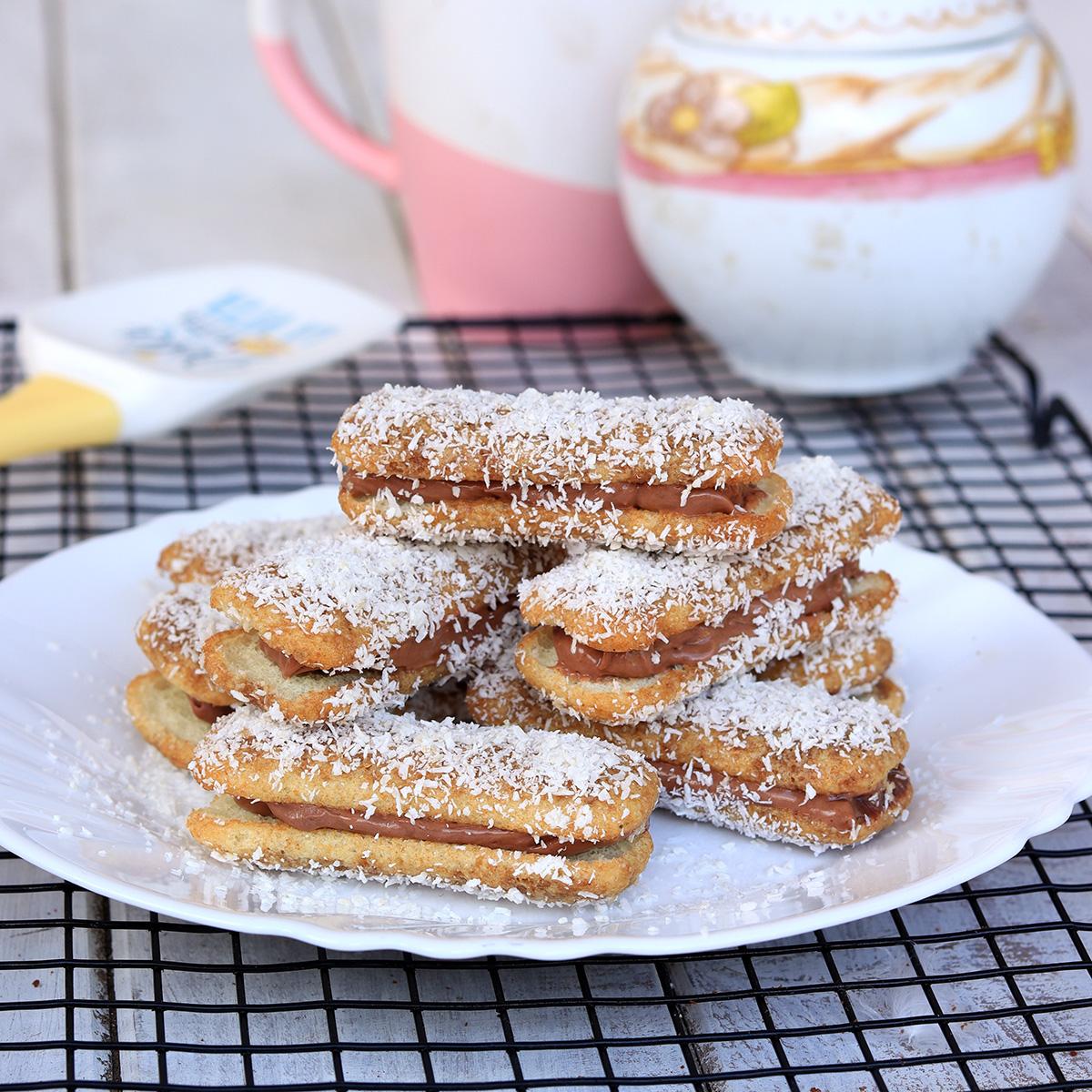 PAVESINI CON NUTELLA VELOCI pavesini cocco e nutella   dolci freddi