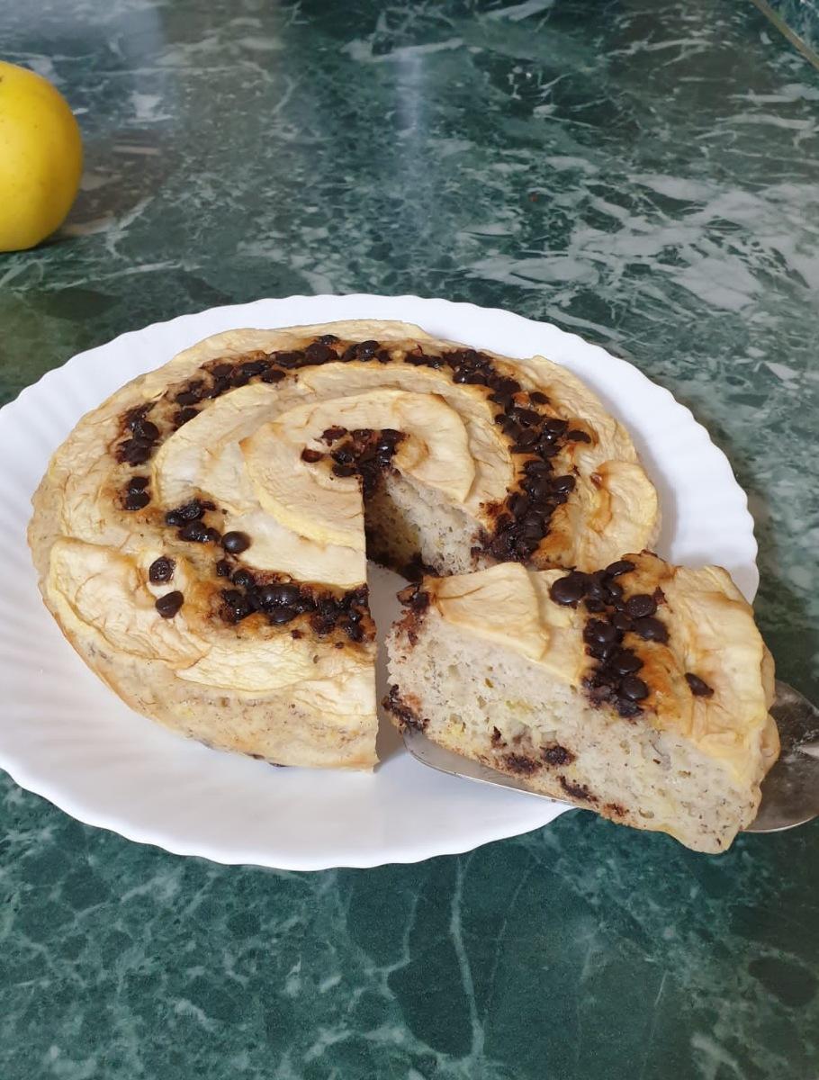 TORTA ALBUMI E MELE FIT torta di mele light proteica   ricetta dolce fit