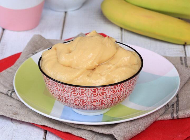 CREMA PASTICCERA ALLA BANANA crema alle banane per bignè e torte
