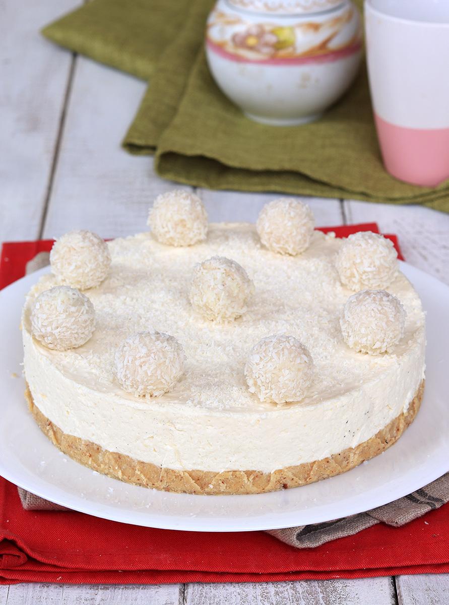 TORTA FREDDA RAFFAELLO ricetta torta cocco e cioccolato senza forno