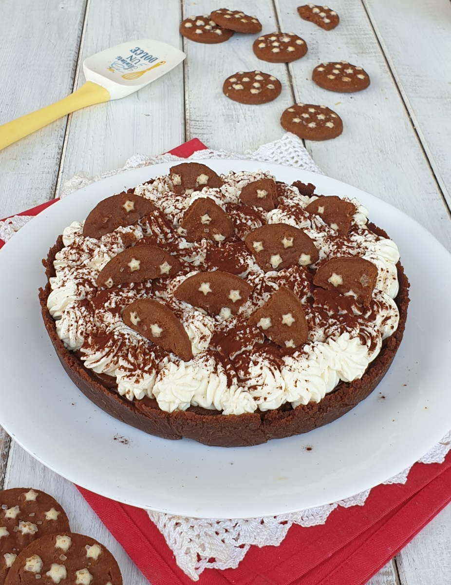 CROSTATA FREDDA PAN DI STELLE torta fredda pan di stelle veloce