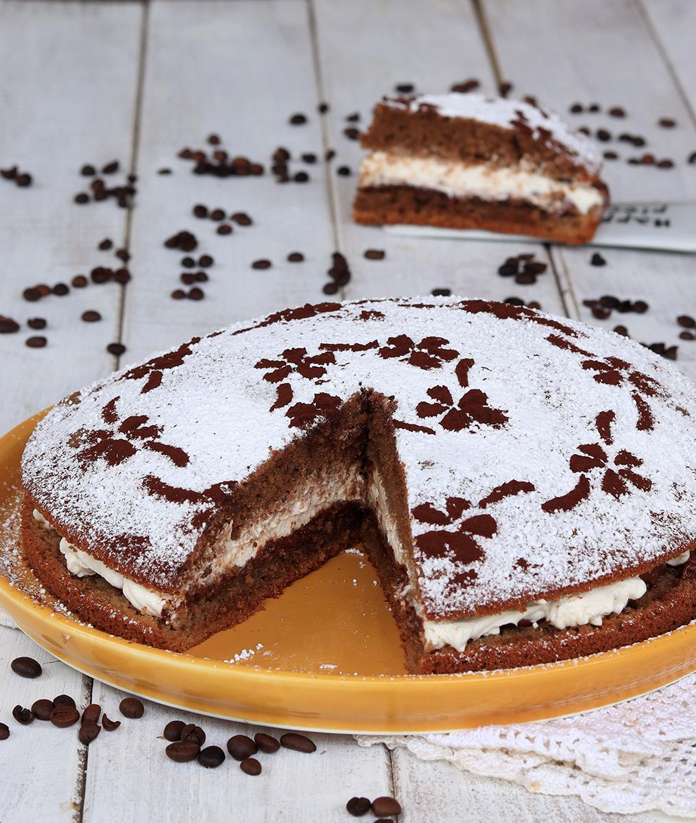 TORTA MORETTA AL CAFFE' torta al caffè e mascarpone con nutella