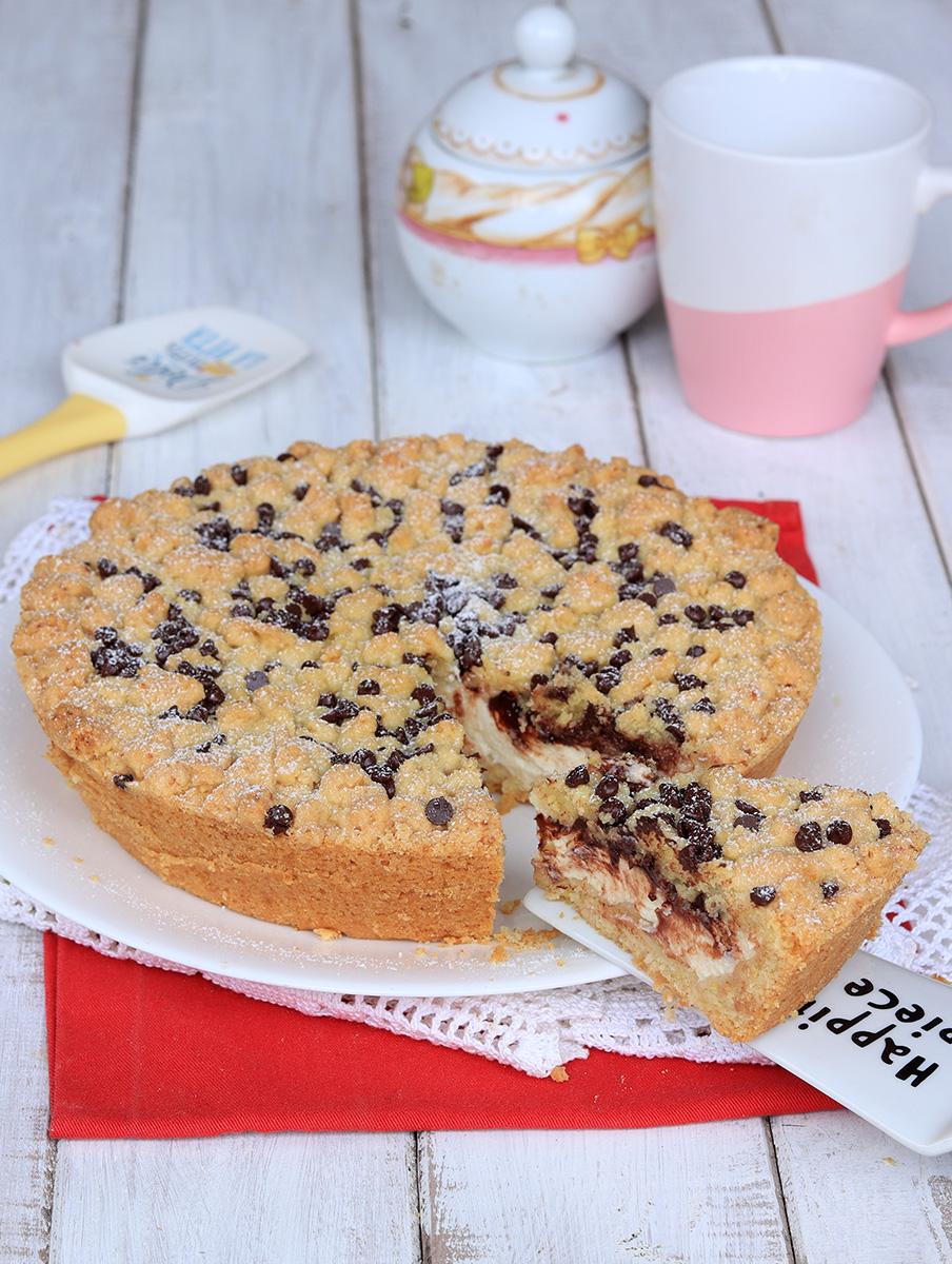 Torta SBRICIOLATA RICOTTA e CIOCCOLATO   ricetta sbriciolata morbida