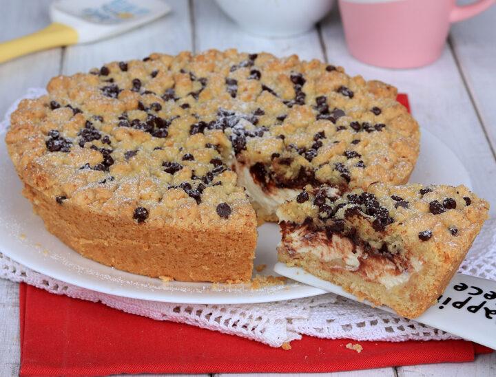Torta SBRICIOLATA RICOTTA e CIOCCOLATO | ricetta sbriciolata morbida