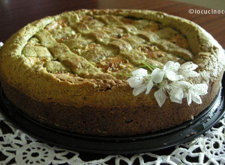 Crostata al pistacchio con crema di ricotta e cioccolato bianco