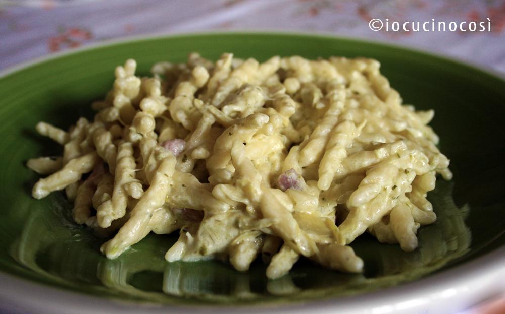 Ricette pasta ai carciofini