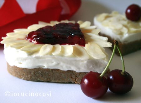 Cuori di cheesecake alla mandorla –  Heart Almond Cheesecake
