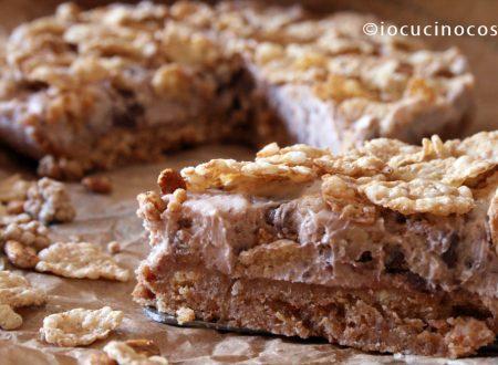 Cheesecake croccante al cioccolato e cereali