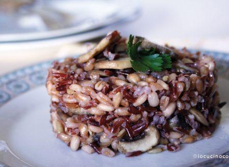 Sformatini ai 5 cereali e funghi | Ricetta light veloce