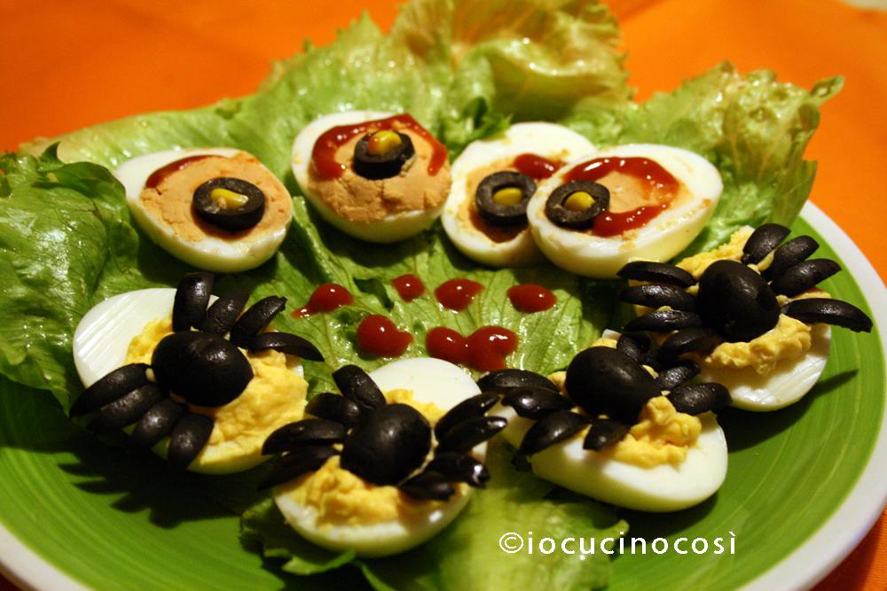 Uova sode ripiene   Ricetta per Halloween   Io cucino così