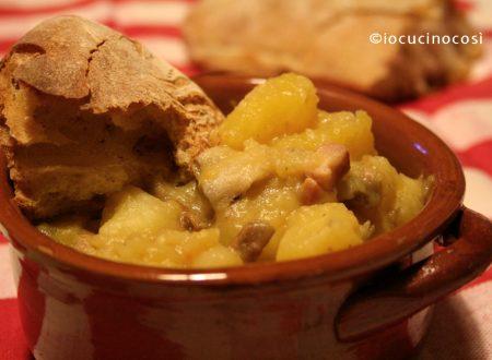 Patate zucca e funghi in umido   Ricetta zuppe e minestre