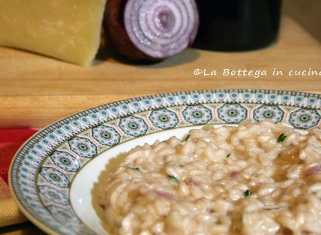 Risotto al vino rosso e crema di formaggi | Videoricetta