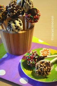 Cake pops nutella e pandoro