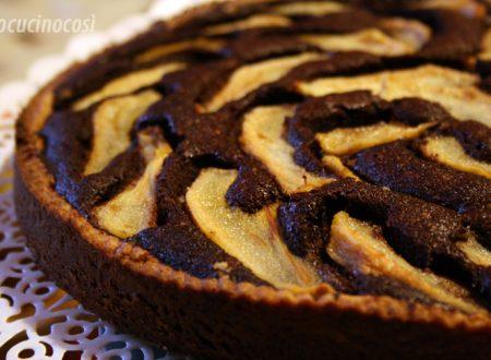 Torta frangipane al cioccolato e pere | Ricetta dolce